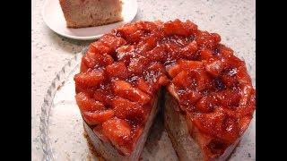 Яблочный пирог с клубничным повидлом.По рецепту от Энди Шефа.