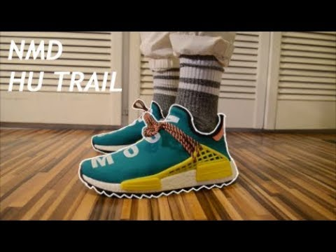 f43a86763913f Pharrell x Adidas NMD HUMAN RACE Green Tr REVIEW   ON FEET ! Mental Slaves