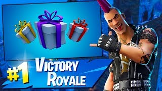 FORTNITE! GIFTS IN THE GAME! NEW SKIN IN THE STORE:D WINS 🏆 636