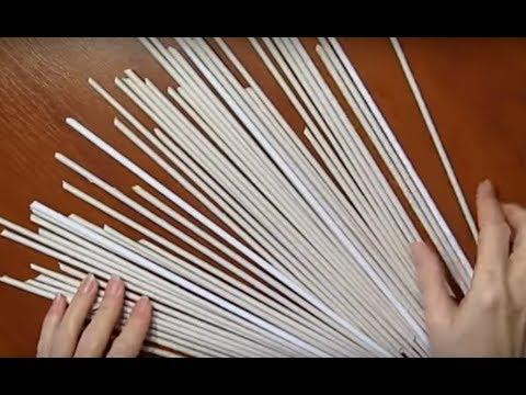 Как сделать из бумаги трубочку