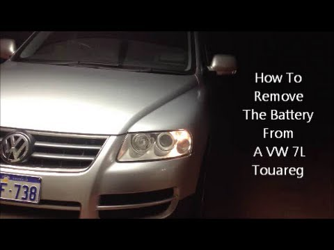 2016 vw touareg battery location
