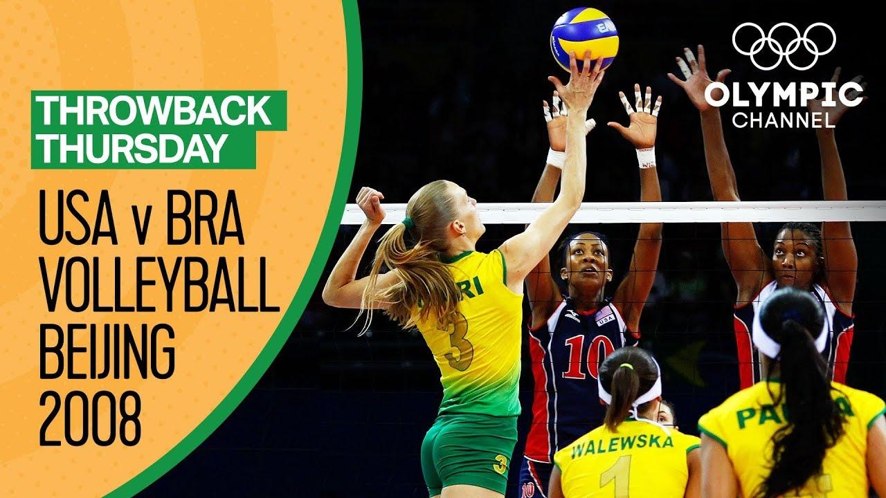 Download Brazil Women beat USA for their first Volleyball Gold   Beijing 2008   Throwback Thursday