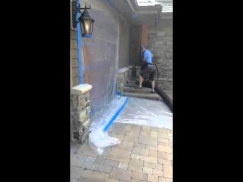 how to clean bad stains off concrete pavers