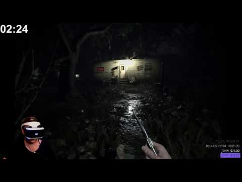 Resident Evil 7 in VR with jumpscare stream alerts!