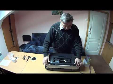 видео: Разборка  принтера epson 1410