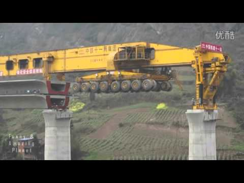 SLJ90032 Bridge Girder Erection Mega Machine Builds A Bridge In 1 Day