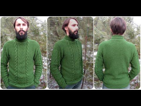 Как связать свитер спицами для начинающих схемы с описанием мужской