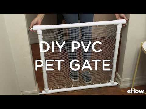 DIY PVC Pipe Pet Gate
