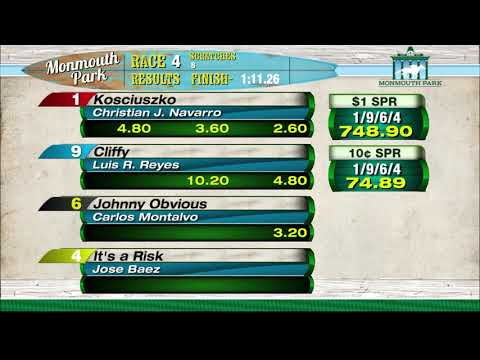 video thumbnail for MONMOUTH PARK 05-28-21 RACE 4