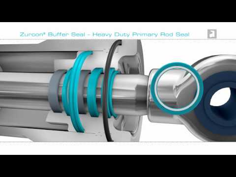 Hydraulic Buffer Seal (Rod) Polyurethane  - Trelleborg Sealing Solutions