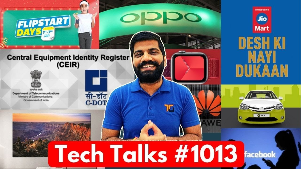 Charlas tecnológicas # 1013: compras en JioMart, rastreo de teléfono perdido, Oppo TV, Facebook Huge Fine, iPhone 12 + vídeo