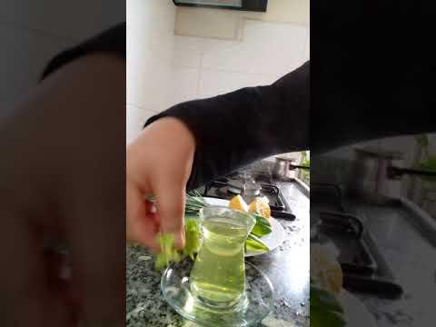 3. Ü bir arada limon yaprağı çayı ve arkadaşları şifa deposu afiyet olsun