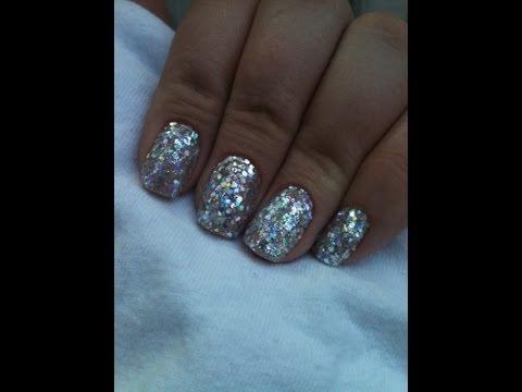 Super Sparkly Shellac Rockstar Nails
