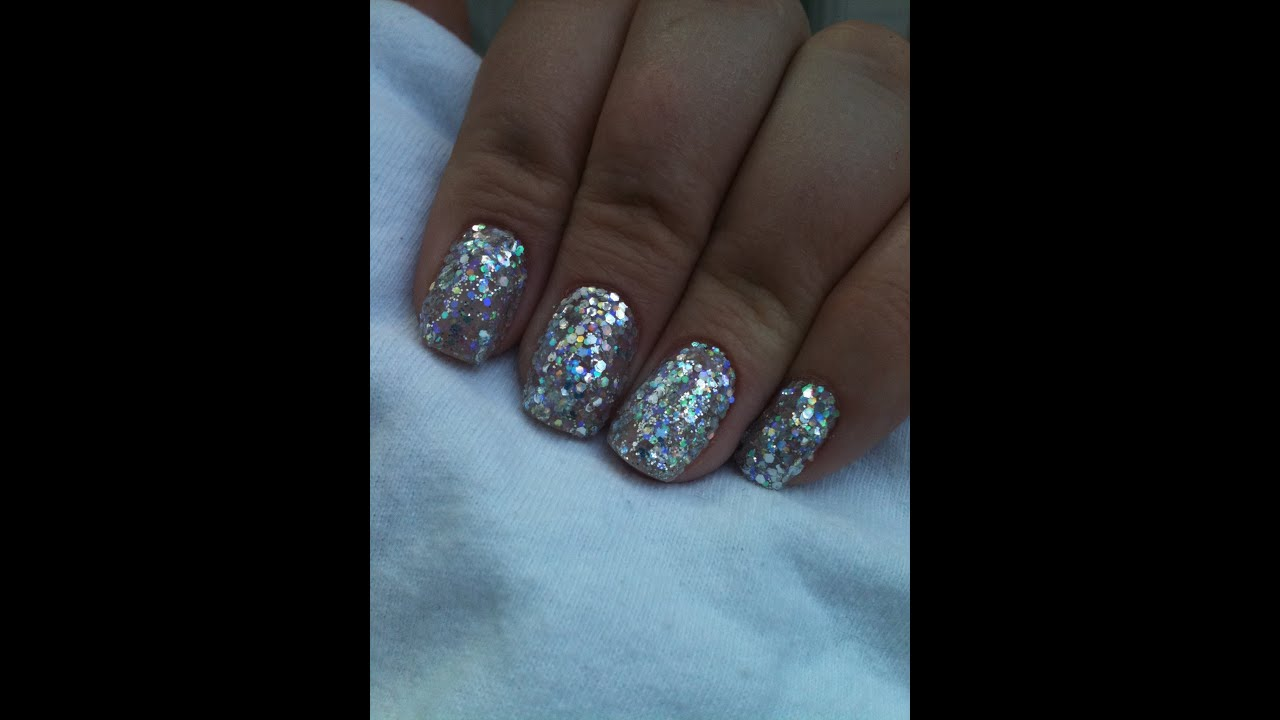 Super Sparkly Shellac Rockstar Nails Youtube
