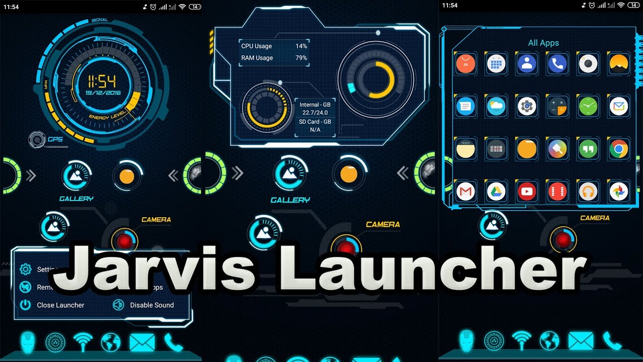 Jarvis Launcher For Android - This Is Beta Version Of Jarvis Launcher