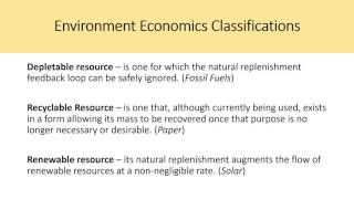 Environment and Natural Resource Economics -Tietenberg, Chapter 6