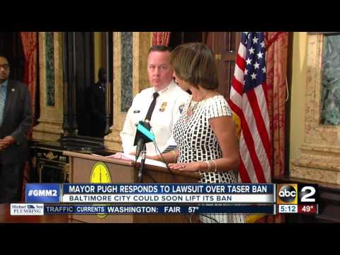 baltimore city mayor catherine pugh issues statement on taser lawsuit