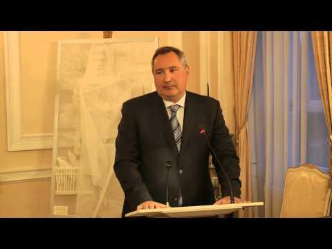 Deputy PM of Russia Dmitry Rogozin speaks at the Russian Embassy in London 15.04.2013 Part 1