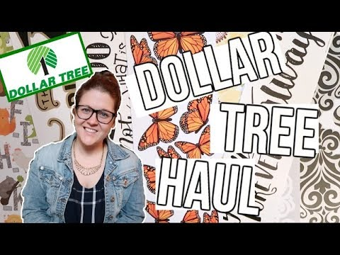DOLLAR TREE HAUL | NEW FINDS | WALL DECALS!!!