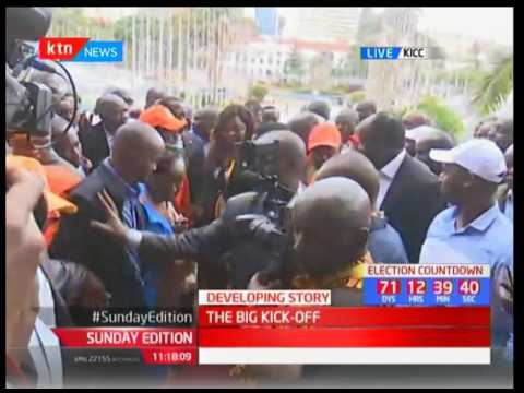 THE BIG KICK-OFF: NASA pentagon arrive at KICC to present their  nomination papers to IEBC