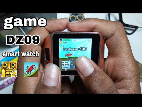 How To  Download/install  Hill Climb/ Temple Run Game In DZ09 Smartwatch