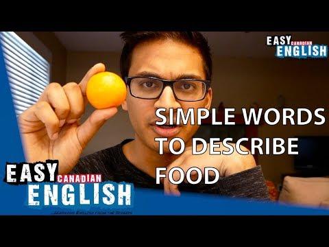 Super Easy English unit 3 Simple English words to describe food