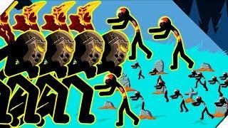ЗОМБИ СОЖРАЛИ СТИКМЕНОВ - Stick War Legacy zombie mode # 9