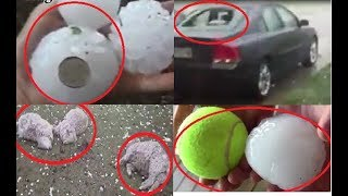Size of a Tennis Ball Hailstones Damaged Australia