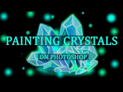 HOW TO PAINT CRYSTALS ON PHOTOSHOP CC - TUTORIAL BY ABIRA ANUM thumbnail