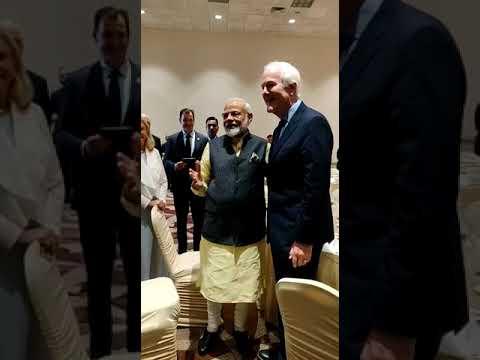 Here is what happened when PM MODI met Senator Senator John Cornyn