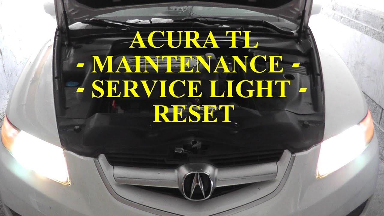 acura tl service due maintenance light reset youtube
