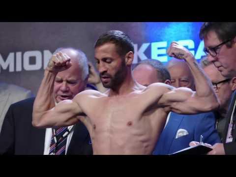 Scott Quigg vs Viorel Simion FULL FACE OFF & WEIGH IN   Joshua vs Klitschko