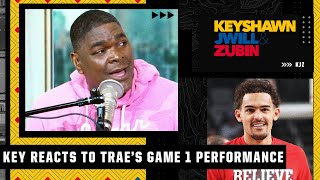 'C'mon man, seriously?!' - Keyshawn marvels at Trae Young's backboard lob | KJZ