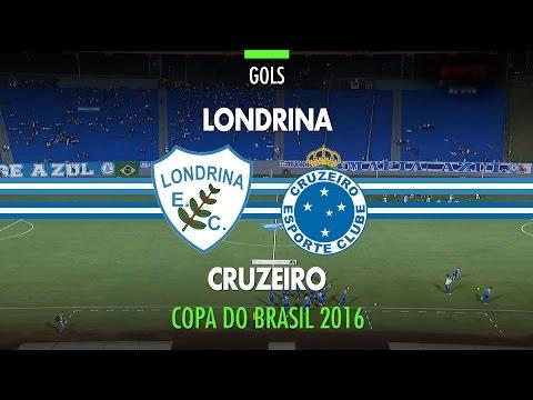 Gols - Londrina 0 x 2 Cruzeiro - Copa do Brasil - 10/05/2016