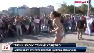 Gezi Parkı Bikinili Eylemciye Laz Teyzenin tepkisi