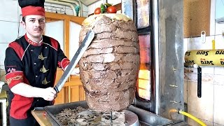 Turkish Doner Kebab Recipe How to Make Meat Mince Semolina Doner