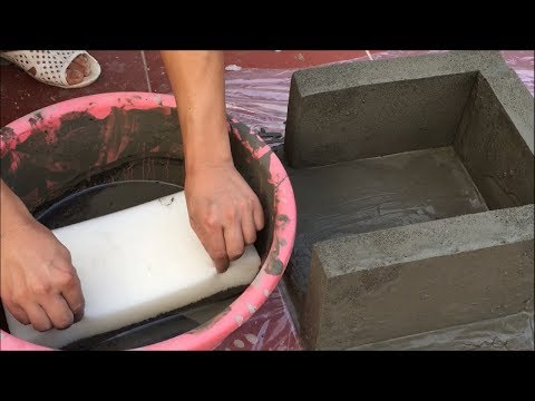 EXCELLENT - The Most Innovative Cement ideas with SPONGE - How to make flower pots for the garden