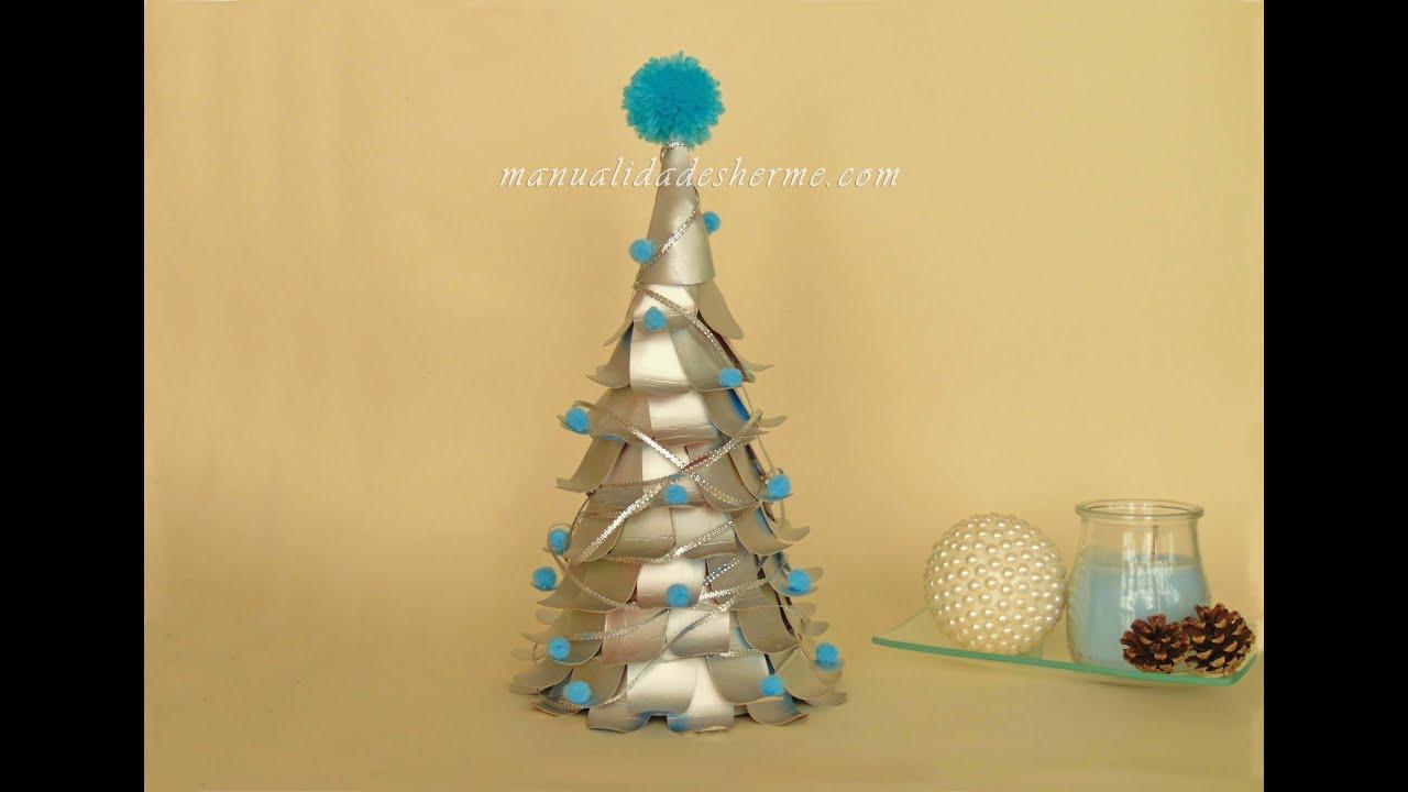 Hacer rbol de navidad con cartones de leche youtube - Manualidades de arboles de navidad ...
