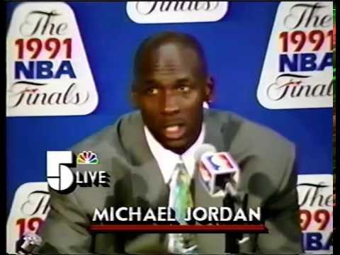 MICHAEL JORDAN 1991 NBA FINALS GAME 2 - POST GAME INTERVIEW