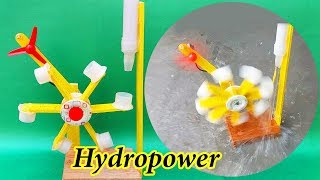 How To Generate Electricity From Water Flow | How To Water turbine | Hydropower Plant | #Free Energy