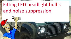 Fitting LED bulbs to the headlights and fix radio interference