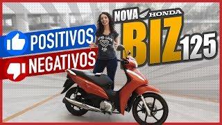 NOVA BIZ 125 2018 - MOTO BIZ 2018 - Pontos positivos e negativos | MotoPlay