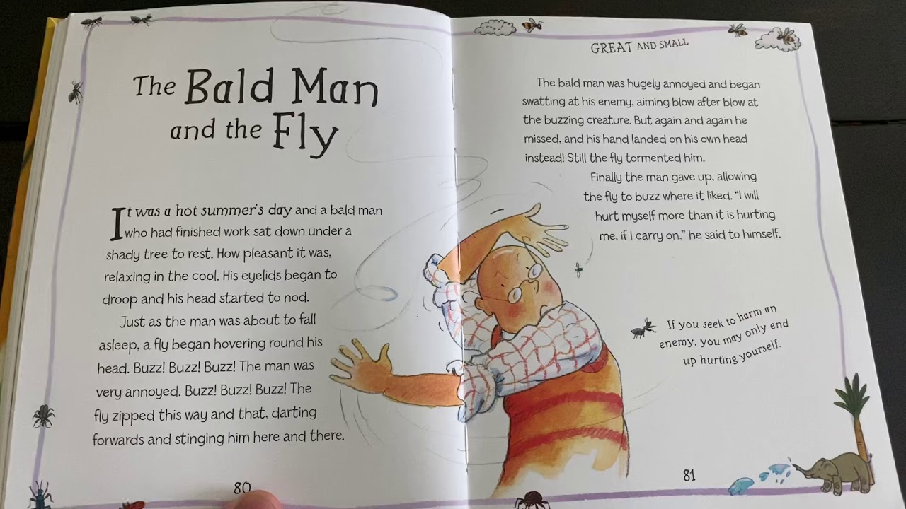 Aesop's Fable: The Bald Man and the Fly - YouTube