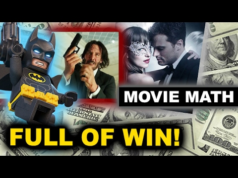 Box Office for The LEGO Batman Movie, Fifty Shades Darker, John Wick 2