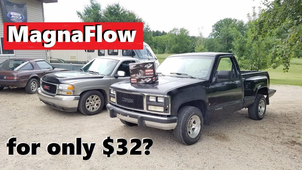 "88-95 Chevy Silverado Truck 3/"" Single Exhaust Kit Flowsound 1-Chamber Muffler"