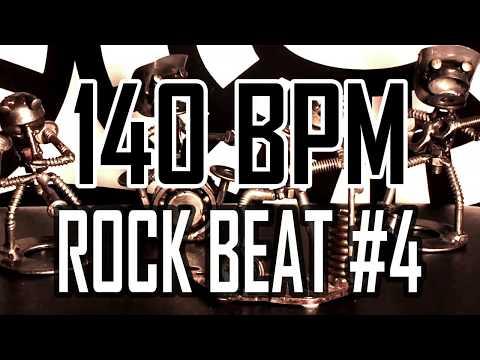 140 BPM - Rock Beat #4 - 4/4 Drum Beat - Drum Track