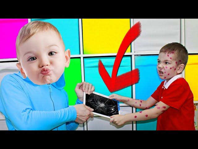 Рома и Няня БАЛДИ Играют Со СТРАННЫМ Малышом!