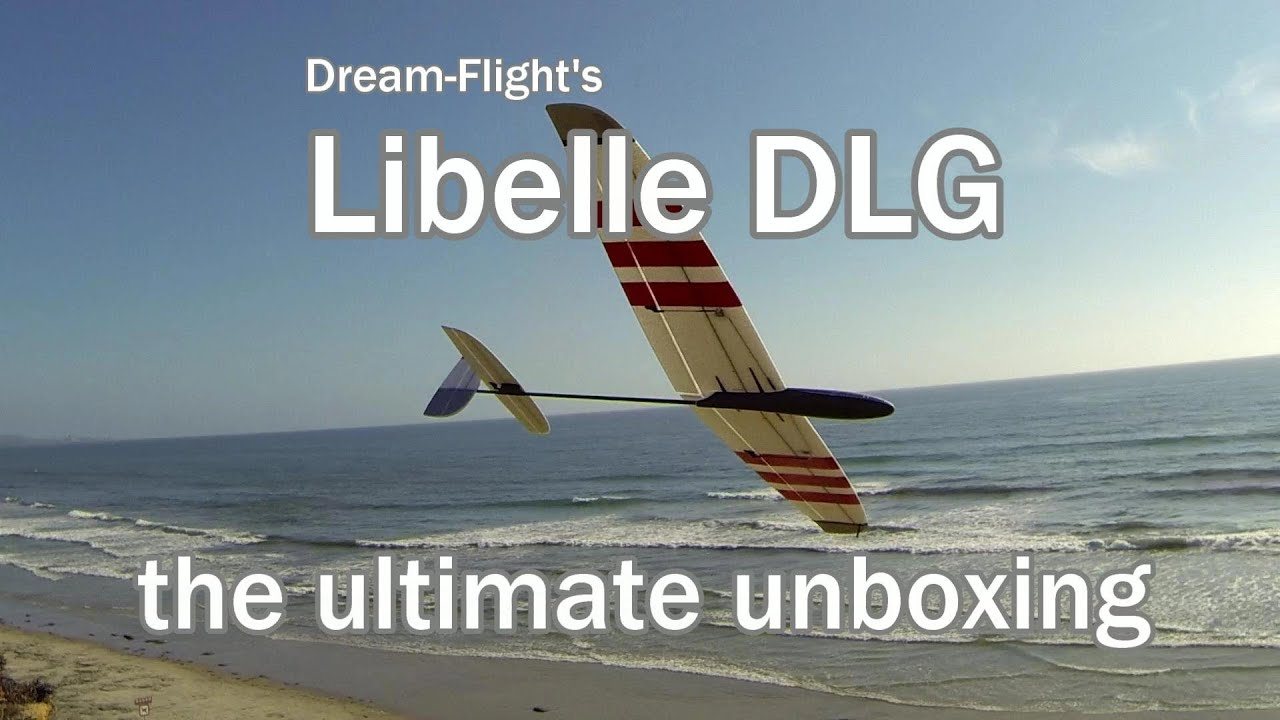 Dream Flight Libelle Glider Ultimate Unboxing and Slope Soaring