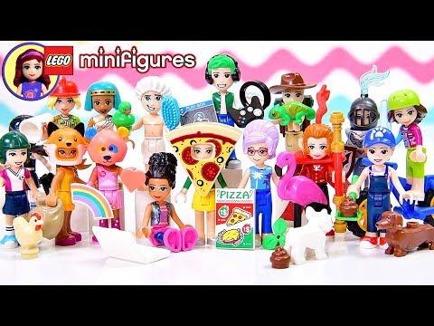Lego Minifigures Series 19 Complete Set Reveal! Dress Up with Disney Princess & Lego Friends