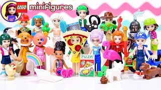 Lego Minifigures Series 19 Complete Set Reveal! Dress Up with Disney Princess & Lego Friends